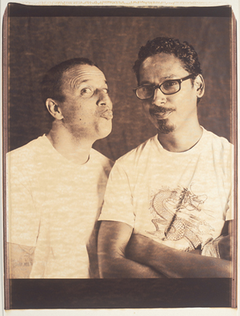 Jim Thiebaud And Tommy Guerrero, 20X24 Chocolate Polaroid, SF